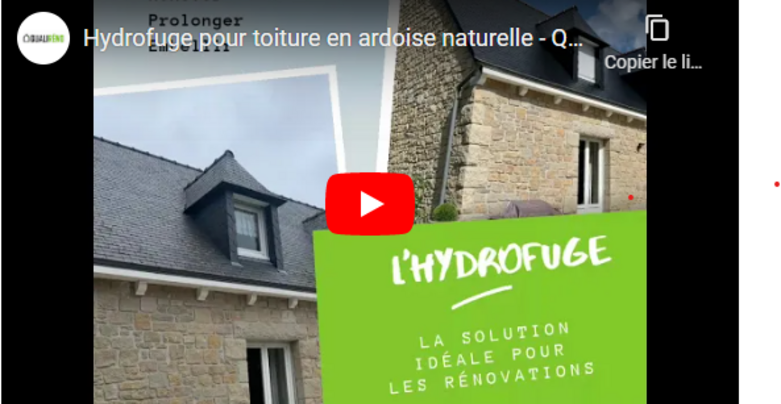 Hydrofuge pour toiture en ardoise naturelle -Rénovation