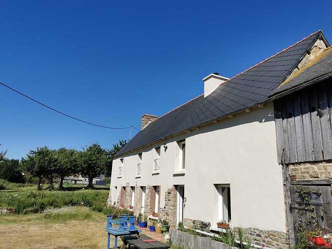 Ravalement de façade et traitement hydrofuge sur toiture fibrociment - Côtes-d''Armor (22) img20200530105121